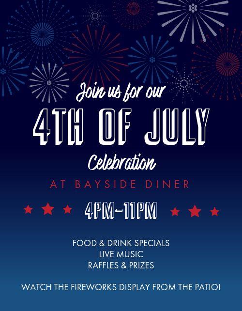 July Fourth Fireworks Flyer