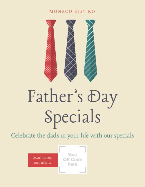 Fathers Day Specials Flyer