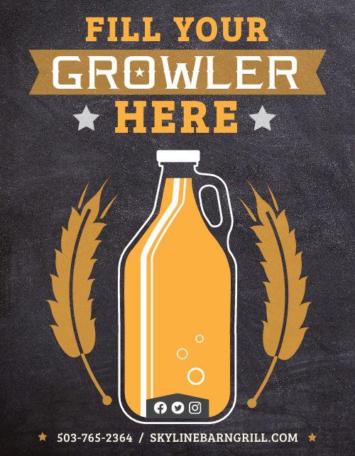 Growler Beer Flyer