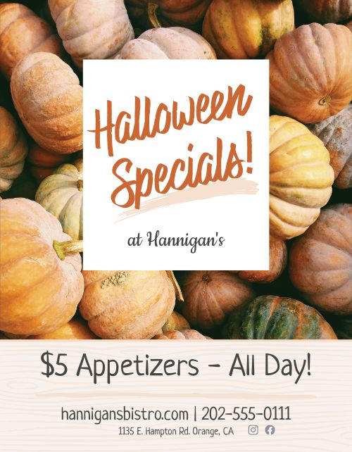 Halloween Specials Sign