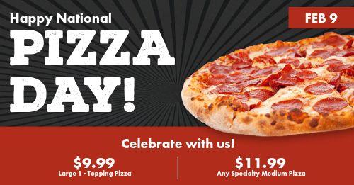 Pizza Day Celebration Facebook Post