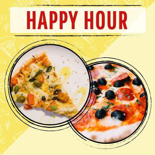 Happy Hour Pizza Instagram Post