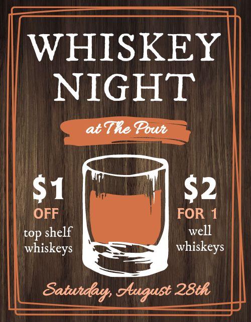 Whiskey Night Flyer