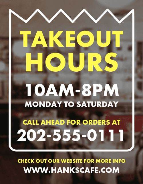 Carryout Schedule Flyer