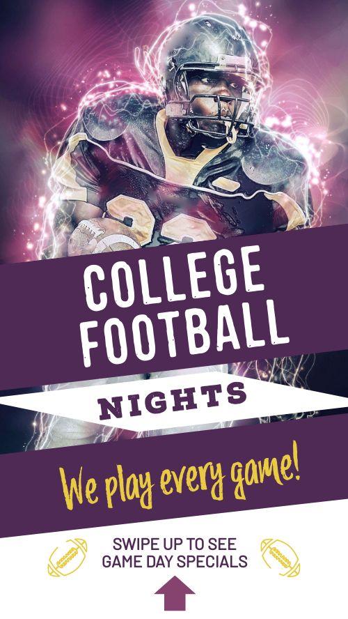 Football Night Facebook Story