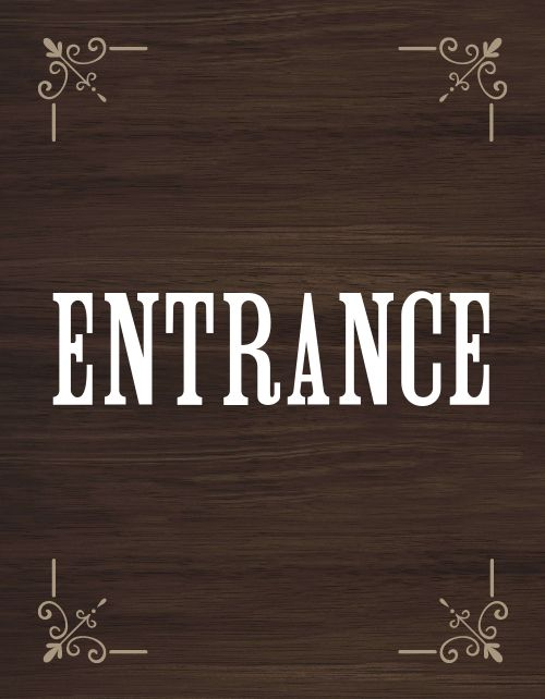 Enter Signage