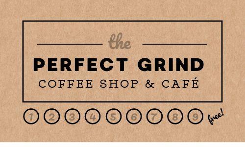Coffee Customer Card