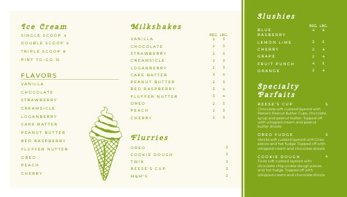 Ice Cream Digital Display