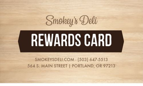 Lunch Sandwich Loyalty Card