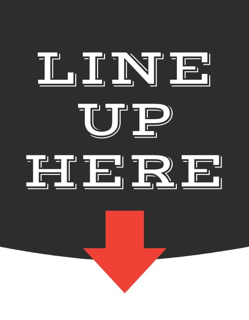 Line Here Flyer