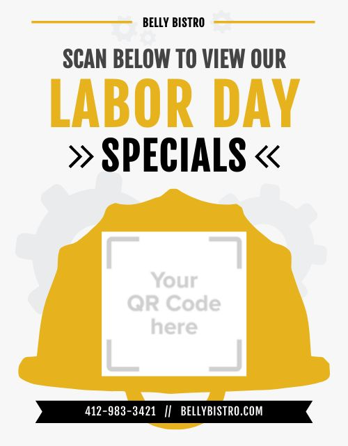 Labor Day Specials Signage