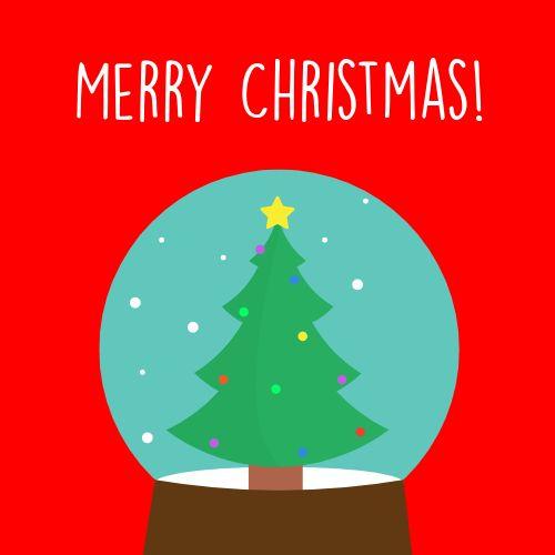 Christmas Snow Globe Instagram Post