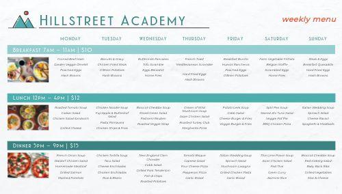 Academy Dining Hall Digital Menu Board
