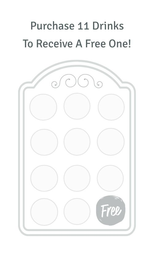 Teahouse Stamp Card