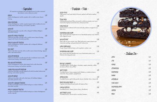 Casual Dessert Folded Menu
