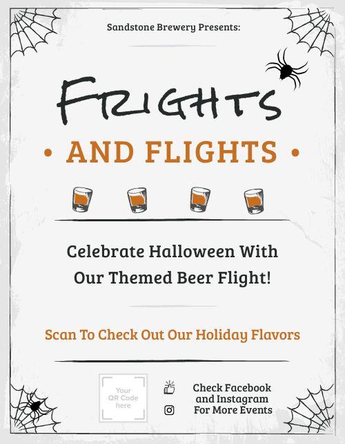 Halloween Beer Flyer