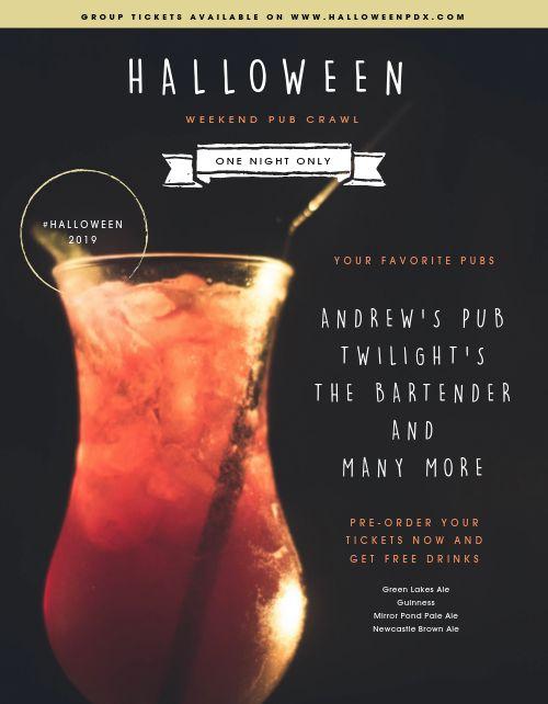 Pub Halloween Flyer