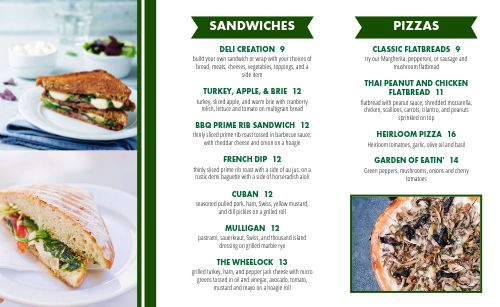 Brunch Country Club Takeout Menu