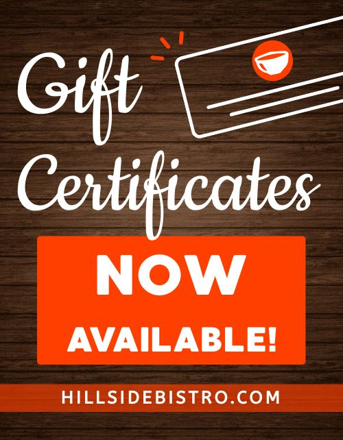 Gift Certificates Now Flyer