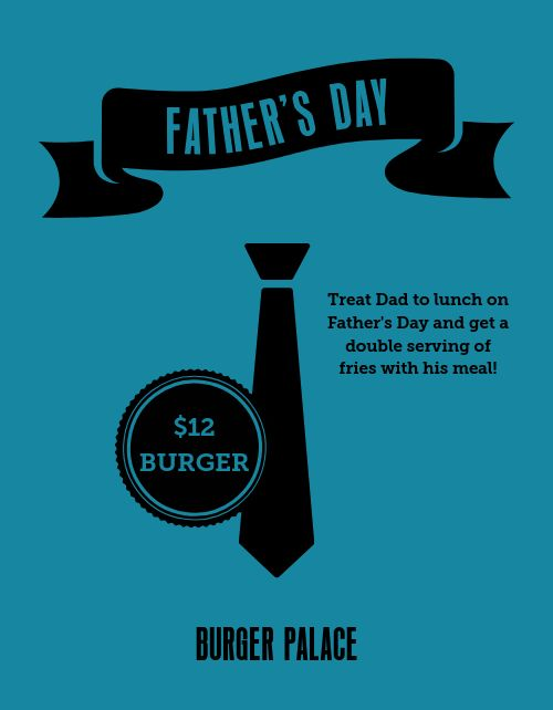 Fathers Day Lunch Special Flyer