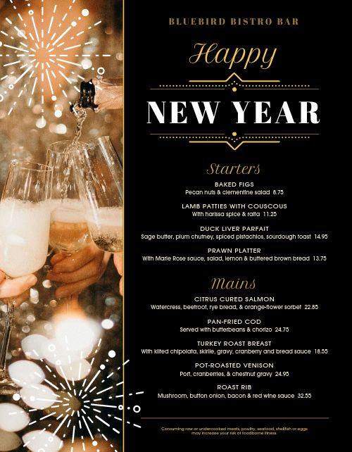 New Years Eve Bistro Menu