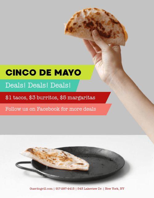 Cinco De Mayo Deals Flyer