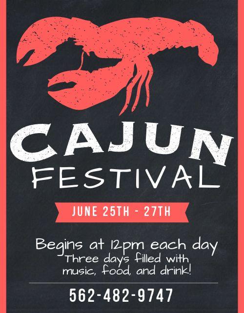 Cajun Festival Sign