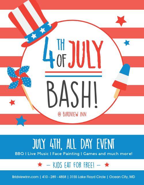 Fourth of July Bash Flyer