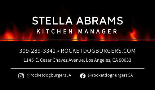 Burger Restaurant Card