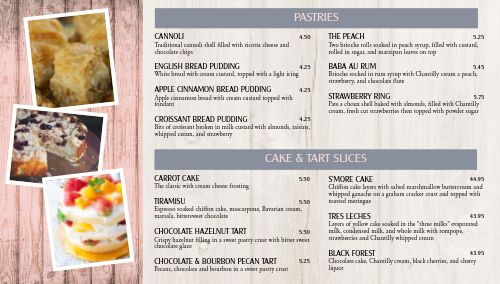 Rustic Bakery Digital Menu Board