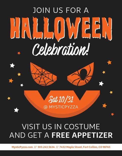 Halloween Celebration Flyer
