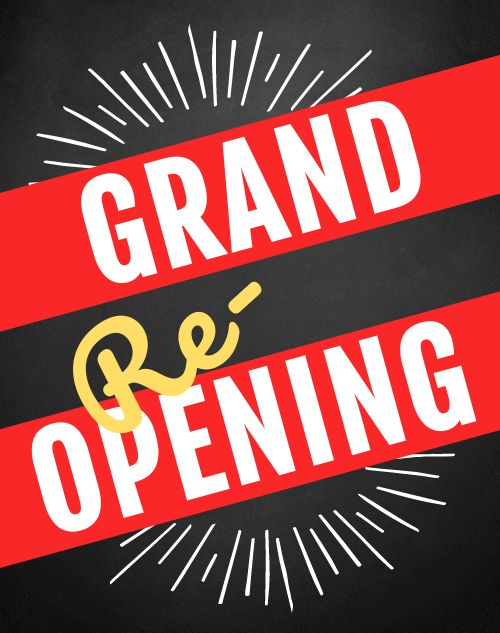 Grand Reopening Sandwich Board