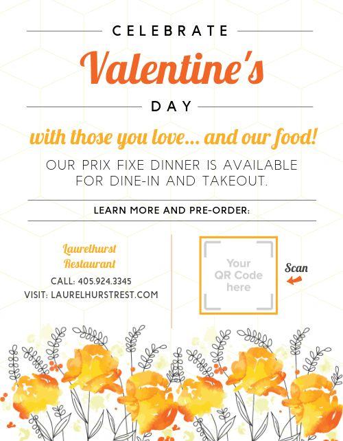Celebrate Valentines Day Flyer