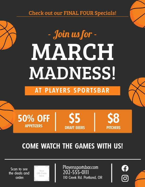 March Madness Sign