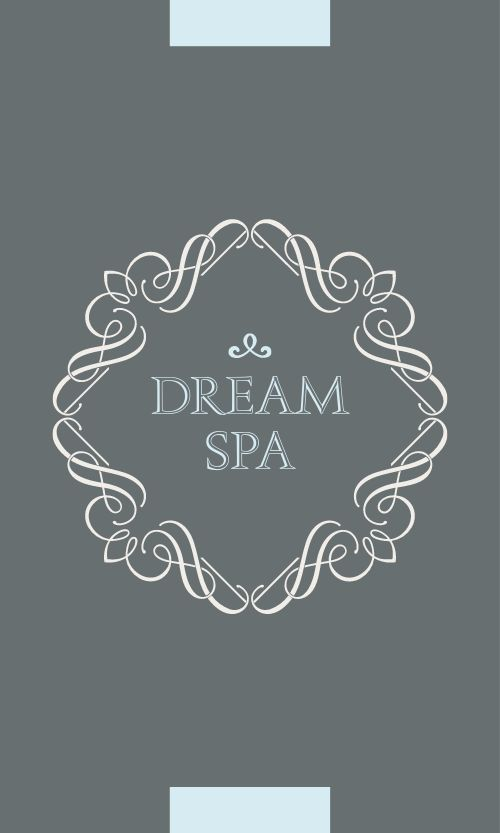 Decorative Spa Business Card
