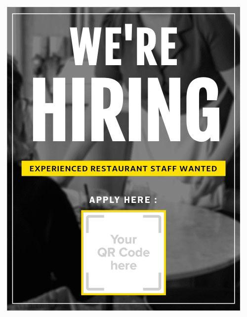 Hiring Restaurant Flyer