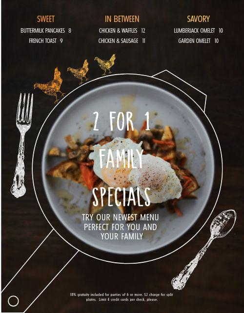 Breakfast Family Specials Menu