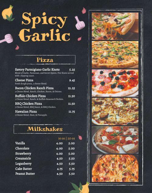 Pizzeria Truck Menu Poster