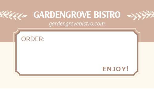 Enjoy Order Label