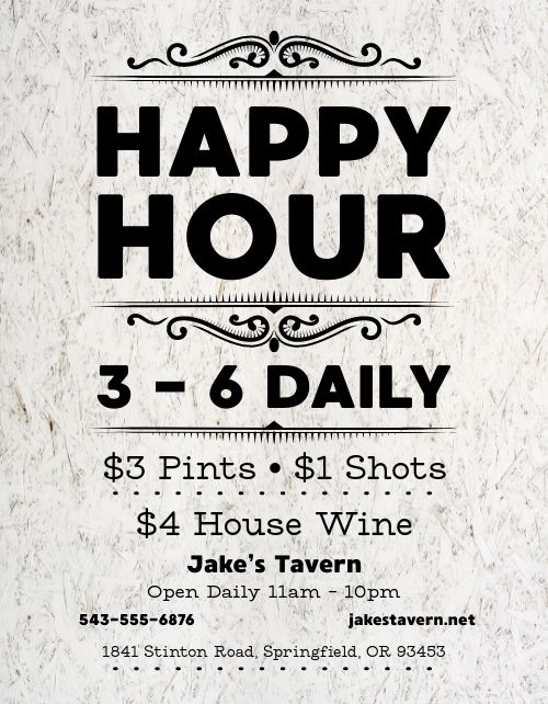 Casual Happy Hour Flyer
