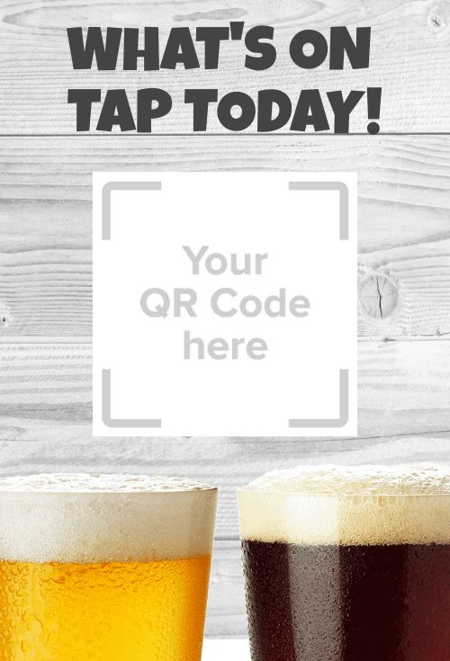 Beer QR Code Table Sign