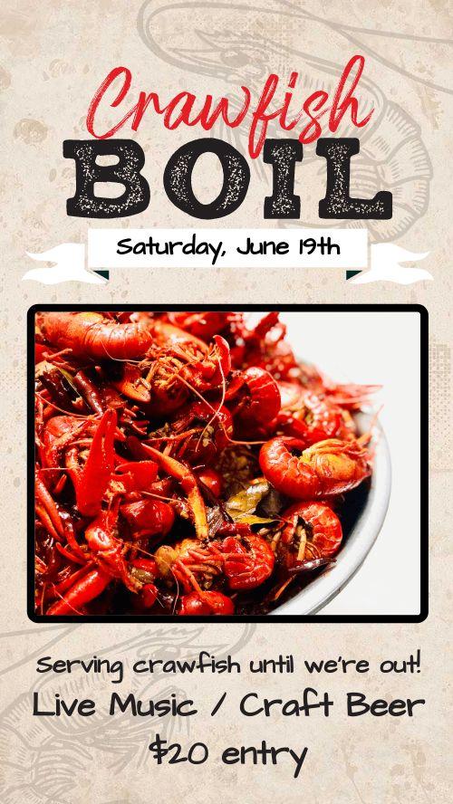 Crawfish Boil Facebook Story