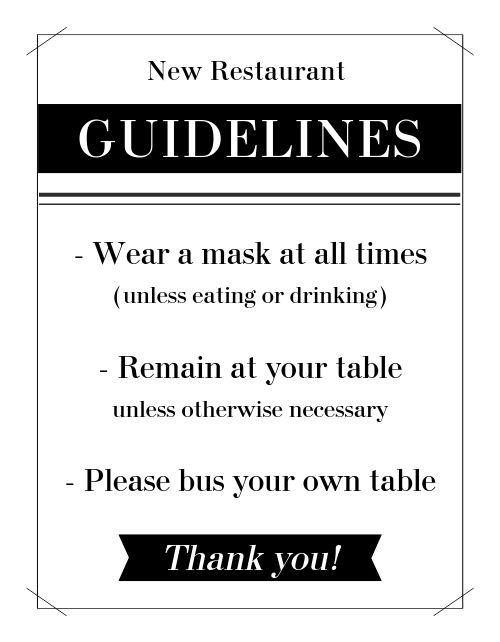 Guidelines Flyer