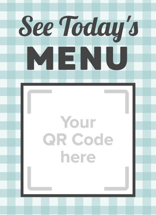 Scan QR Code Tabletop Insert
