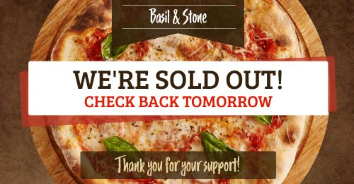 Pizza Sold Out Facebook Post