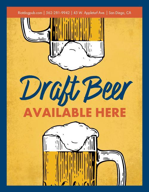 Draft Beer Window Flyer