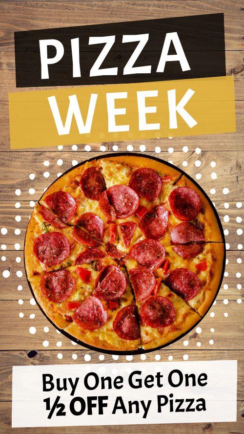Pizza Week Instagram Story