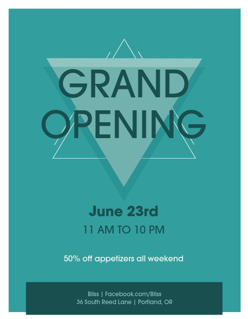 Business Opening Flyer