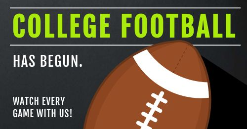 College Football Facebook Post