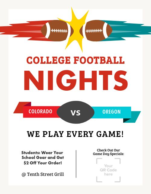 College Football Nights Flyer